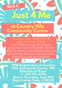 Just 4 Me @ Country Hills Community Centre