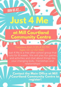 Just 4 Me @ Mill Courtland Community Centre