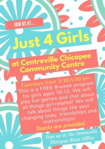 Just 4 Girls @ Centreville Chicopee Community Centre