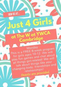 Just 4 Girls @ The W - YWCA Cambridge